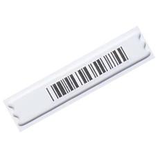 Этикетки противокражные акустомагнитные DR, комплект 5000 шт., 10х44 мм, ложный штрихкод, белые, А-3522