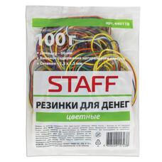 Резинки для денег STAFF, 100 г, цветные, натуральный каучук, 440118