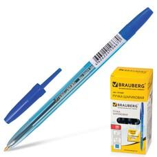 """Ручка шариковая BRAUBERG """"Carina Blue"""", корпус тонированный синий, узел 1 мм, линия 0,4 мм, синяя, 141669"""