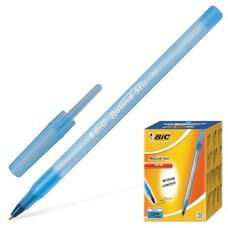 """Ручка шариковая BIC """"Round Stic"""", корпус голубой, узел 1 мм, линия письма 0,32 мм, синяя, 921403"""