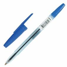 """Ручка шариковая масляная СТАММ """"Офис"""", корпус тонированный синий, узел 1,2 мм, линия 1 мм, синяя, ОФ999"""