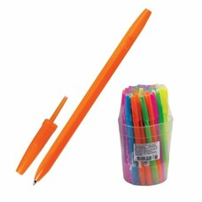 """Ручка шариковая СТАММ """"Оптима"""", корпус неоновый ассорти, узел 1,2 мм, линия письма 0,7 мм, синяя, РО10"""