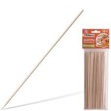 Шампуры для шашлыка PATERRA, КОМПЛЕКТ 100 шт., 200 мм, d=3 мм, бамбуковые, 401697