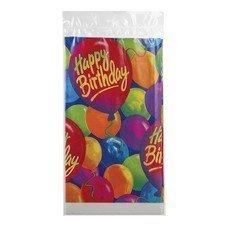 """Скатерть полиэтилен, 140х260 см, """"С днем рождения, шары"""", 1502-0522"""