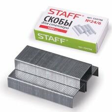 Скобы для степлера STAFF, №24/6, 1000 шт., 224798
