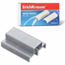 Скобы для степлера ERICH KRAUSE, №10, 1000 штук, 1188