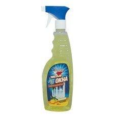 """Средство для мытья стекол и зеркал 500 мл, ЗОЛУШКА """"Лимон"""", распылитель, Ч21-1"""