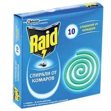Средство от насекомых спираль RAID (Рейд), от комаров, 10 шт., 613642