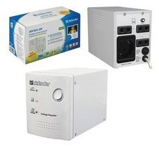 Стабилизатор напряжения DEFENDER AVR Real 600, 250 Вт, входное напряжение 150-280 В, 4 розетки, серый, 99900
