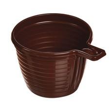 Одноразовая чашка, 180 мл, 1 шт., полипропилен (ПП), коричневая, для чая/кофе, СТИРОЛПЛАСТ, Ч.80.81.01