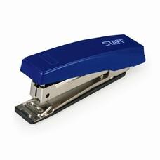 Степлер STAFF №10, до 10 листов, пластиковый корпус, металлический механизм, синий, 227405