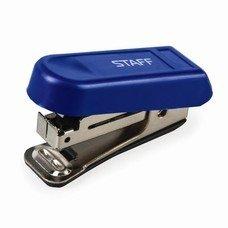 Степлер STAFF №10 мини, до 7 листов, пластиковый корпус, металлический механизм, синий, 227404