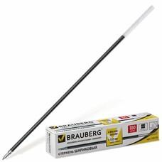 Стержень шариковый BRAUBERG, 152 мм, евронаконечник, узел 1 мм, линия 0,5 мм, черный, 170175