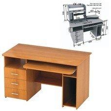 Стол компьютерный СК-14.1, 1300х670х765 мм, цвет бук, СК14.1_1
