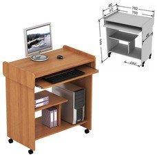Стол компьютерный СК-03.3, 782х480х855 мм, ЛДСП, цвет орех, СК03.3