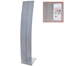 Стойка для рекламных материалов напольная, без лотков, ПАРУС-1, 1600х300х360 мм, хром, 290441