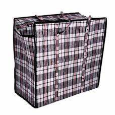 Сумка-баул хозяйственная, полипропилен, 80х60х35 см,168 литров, черно-красная, ЛЮБАША, 170 г/м2, 604704