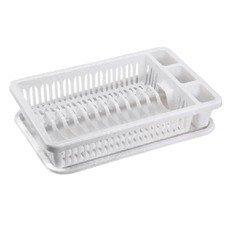 Сушилка для посуды и приборов, 15 секций, комплект с поддоном, 8х29х42 см, цвет мраморный, IDEA, М 1174