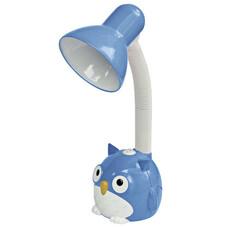 """Светильник настольный SONNEN OU-603, на подставке, цоколь Е27, """"Сова"""", синий, 236674"""