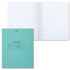 Тетрадь Зелёная обложка 12 л. HATBER, офсет, клетка с полями, 12Т5D, Т52426