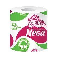 """Бумага туалетная бытовая, 20 м, NEGA (""""Нега""""), 2-х слойная, на втулке, 100% целлюлоза"""