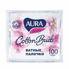 Ватные палочки 100 шт., AURA, полиэтиленовый пакет, 1646, 6470