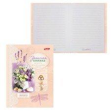 """Записная книжка женщины, 7БЦ, А6, 160 л., обложка ламинированная, HATBER, """"Цветы"""", 160ЗКс6 12953, Z167861"""