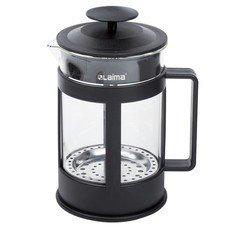 """Заварник (френч-пресс) ЛАЙМА """"Утро"""", 800 мл, жаропрочное стекло/пластик, черный, 601355"""