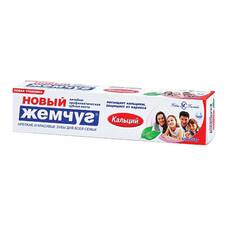 """Зубная паста 50 мл, НОВЫЙ ЖЕМЧУГ """"Кальций"""", комплексная защита от кариеса, 17112"""