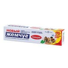 """Зубная паста 125 мл, НОВЫЙ ЖЕМЧУГ """"Кальций"""", комплексная защита от кариеса, 17115"""
