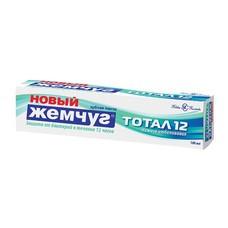 """Зубная паста 100 мл, НОВЫЙ ЖЕМЧУГ Тотал 12+ """"Нежное отбеливание"""", комплексная защита от бактерий, 17135"""