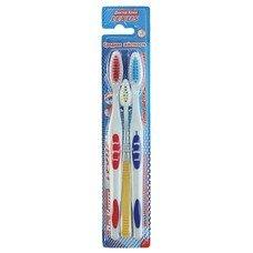 """Зубные щетки DR.CLEAN """"lexus"""" (Доктор Клин, Лексус), комплект 3 шт., 2 взрослые + 1 детская, средняя, YGIR-157"""