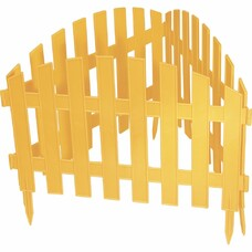 "Забор декоративный ""Винтаж"" 28 х 300 см., желтый Palisad [65010]"