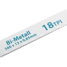 Полотна для ножовки по металлу, 300 мм, 18TPI, BIM, 2 шт. Gross [77730]