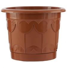 Горшок Тюльпан с поддоном, терракотовый, 6 литров Palisad [69244]