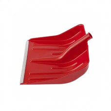 Лопата снеговая красная, 400 х 420 мм, без черенка, пластмассовая, алюминиевая окантовка СибрТех [61617]