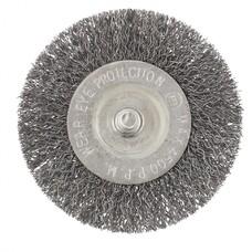 Щетка для дрели, 75 мм, плоская со шпилькой, витая проволока СибрТех [744487]