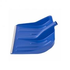 Лопата снеговая синяя, 400 х 420 мм, без черенка, пластмассовая, алюминиевая окантовка СибрТех [61618]