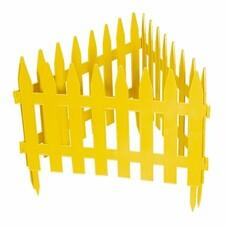 "Забор декоративный ""Рейка"", 28 х 300 см, желтый// Palisad [65000]"