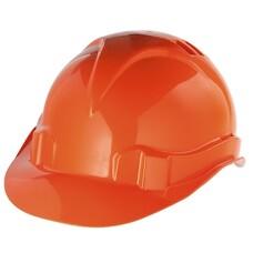Каска защитная из ударопрочной пластмассы, оранжевая СибрТех [89113]