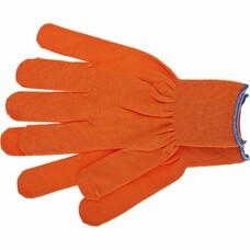 Перчатки нейлон, 13 класс, оранжевые, XL