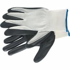 Перчатка с черным нитрильным покрытием, стойкая к маслу и бензину, L, 15 класс вязки СибрТех [67861]