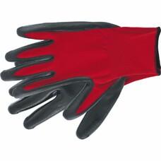 Перчатка с чёрным нитрильным покрытием, стойкая к маслу и бензину, L, 15 класс вязки Stels [67870]