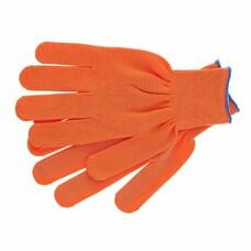 Перчатки нейлон, ПВХ точка, 13 класс, оранжевые, XL