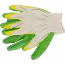 Перчатки хб с двойным латексным обливом