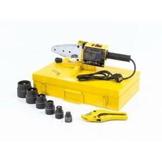 Аппарат для сварки пластиковых труб DWP-1500, 1500Вт, 260-300 градусов комплект насадок,20-63 мм Denzel [94205]
