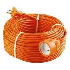 Удлинитель-шнур силовой, 2*1мм*15м, 1 прорезиненная розетка, 10A, Stern [95711]