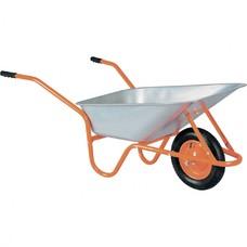 Тачка садово-строительная ТСО-02/01. ОЦ, оцинкованная, цельнолитое колесо, грузоподъемность 120 кг, объем 90 л.