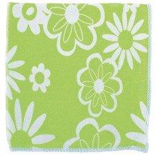 Салфетки из микрофибры с зел.цветами 300*300 мм Elfe [92307]