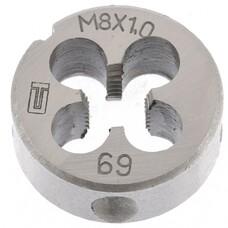 Плашка М8 х 1,0 мм СибрТех [77019]